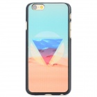 Desert Pattern Protective PC Back Case for IPHONE 6 - Light Blue + Multi-Color