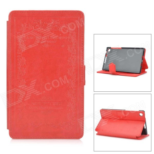 Stylish Classic Protective Flip-Open PU Leather Case w/ Stand for Google Nexus 7 II 7 Tablet - Red