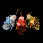 Pinecones Old Man Christmas Tree Ornaments - Multicolored (3 PCS)