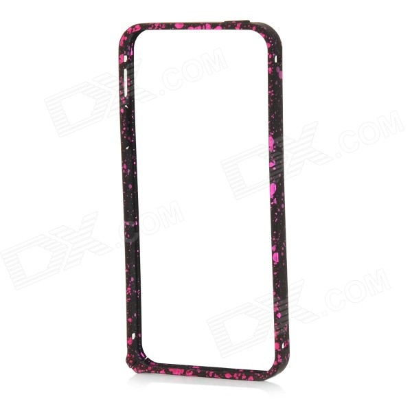 Patterned Protective PC Bumper Frame Case for IPHONE 5S - Deep Pink s what protective metal bumper frame for iphone 5 5s deep pink
