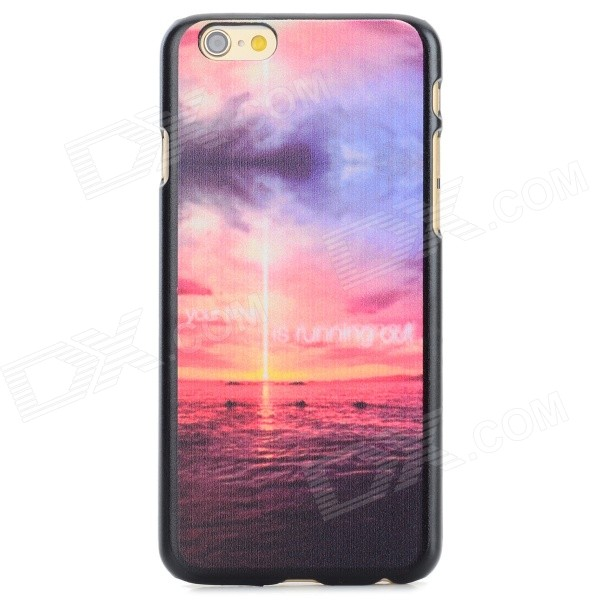 Sunrise Pattern Protective PC Back Case for IPHONE 6 - Pink + Black + Multi-Color защитный чехол pacha sunrise cherries hard case для iphone 5