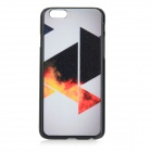 Triangle Patterned Protective PC Back Case Cover for IPHONE 6 - White + Black