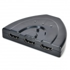 3-Port HD HDMI 1.3 Switcher Splitter w/ Cable - Black