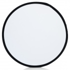 2-in-1 60cm Collapsible Disc Photograph Studio Light Reflector w/ Pouch - White + Silver
