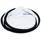 2-in-1 80cm Collapsible Disc Photograph Studio Light Reflector w/ Pouch - White + Silver