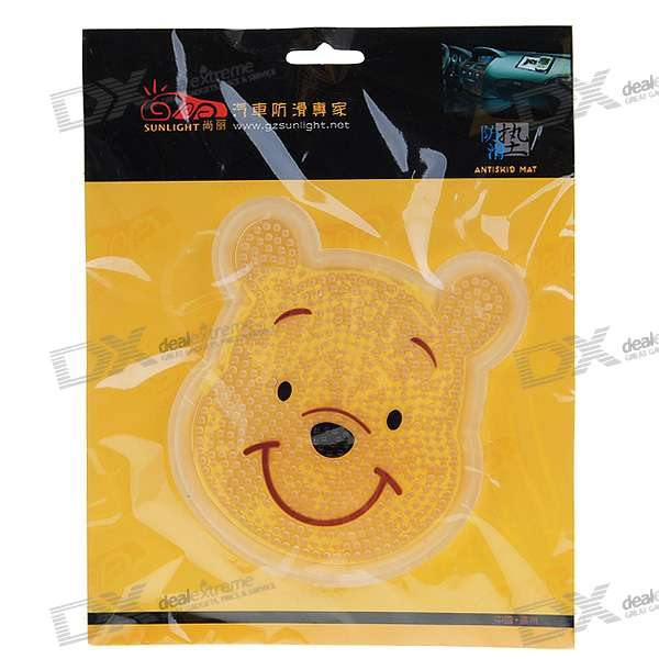 Silicone Vehicle Anti-slip Mat - Cute Bear (16cm*16cm)