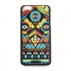 Patterned Protective PC Back Case Cover for IPHONE 6 PLUS - Blue + Yellow