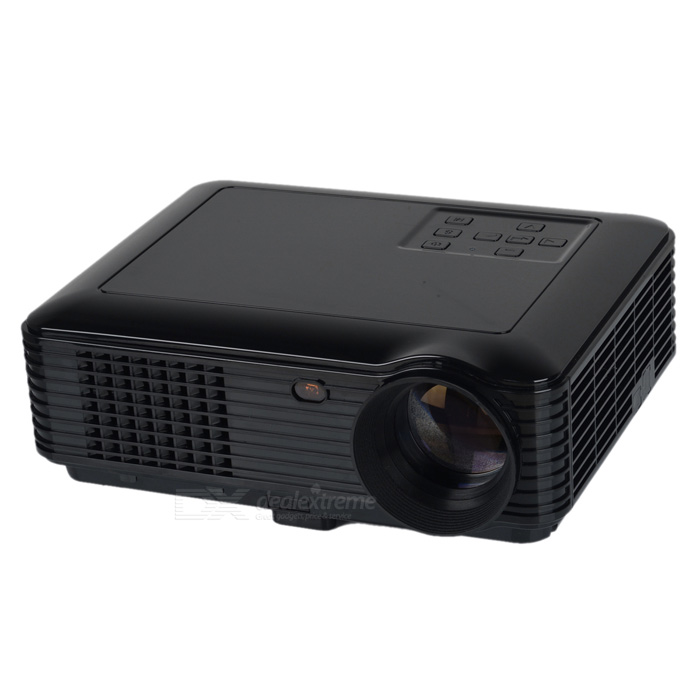RQ SV-228 1080p HDMI 3500lm HD LED Projector w/ AV / USB / VGA / TV - Black (EU Plug)