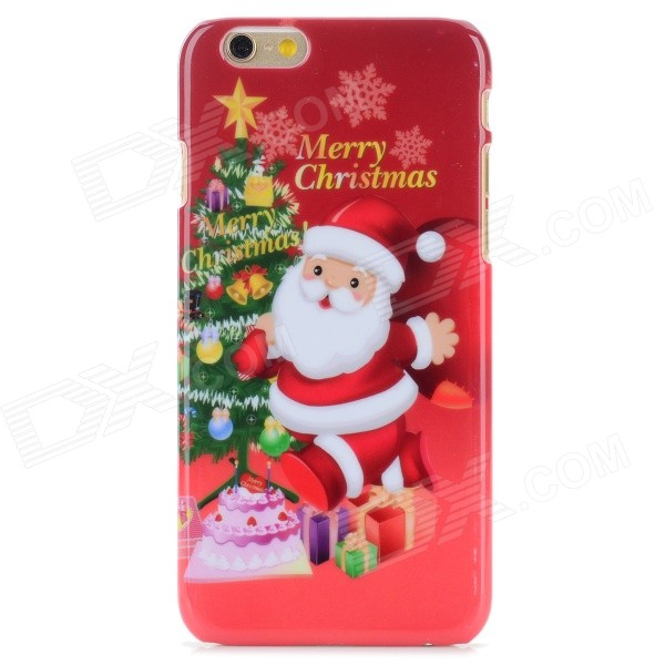 Santa Clausm Protective PC Back Case for IPHONE 6 - Red + Multi-Color - DXPlastic Cases<br>Color Red Brand N/A Model N/A Quantity 1 Piece Material PC Compatible Models IPHONE 6 Design Cartoon Style Back Cases Packing List 1 x Case<br>