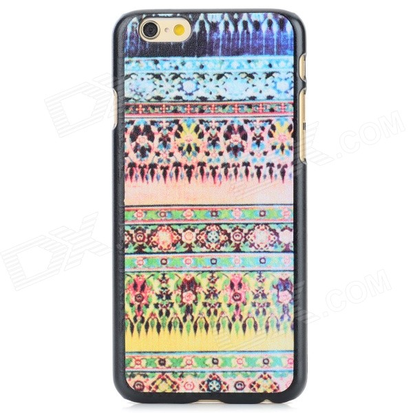 Tribal Ethnic Style Protective PC Back Case for IPHONE 6 - Pink + Yellow + Multi-Color cat pattern protective pc back case for iphone 6 4 7 white pink multi color