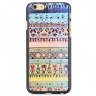 Tribal Ethnic Style Protective PC Back Case for IPHONE 6 - Pink + Yellow + Multi-Color