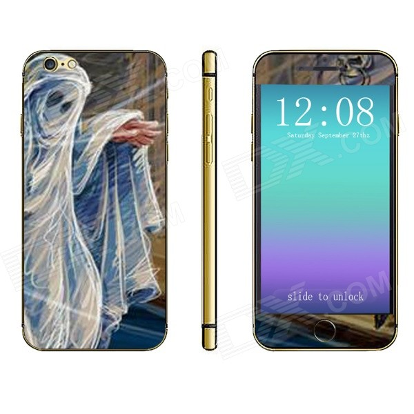 Stylish Ghost Pattern Front + Back Decorative Stickers Set for IPHONE 6 4.7