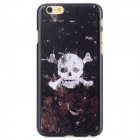Skull Head Pattern Protective PC Back Case for IPHONE 6 - Black + White