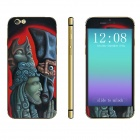 Stylish Scared Man Pattern Front + Back Decorative Stickers Set for IPHONE 4.7