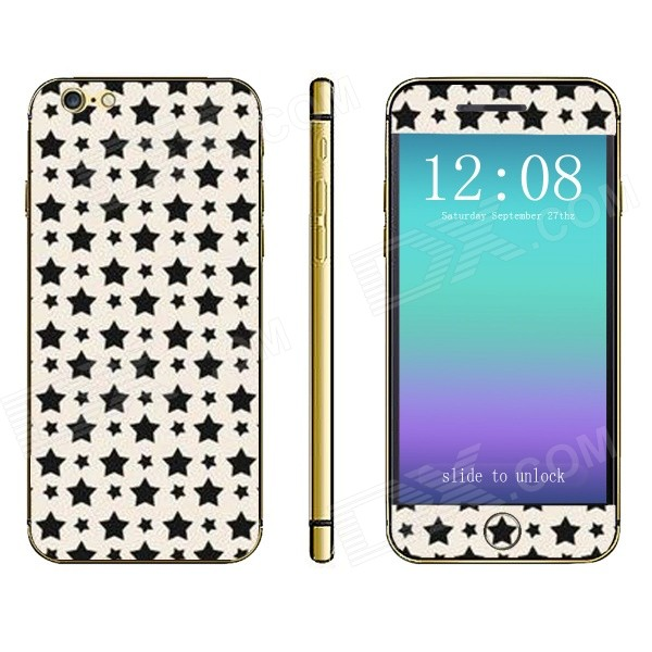 Stylish Stars Pattern Front + Back Decorative Stickers Set for IPHONE 6 4.7
