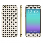 Stylish Stars Pattern Front + Back Decorative Stickers Set for IPHONE 6 4.7""