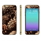 """Stylish Pinecone Pattern Front + Back Decorative Stickers Set for IPHONE 6 4.7"""""""