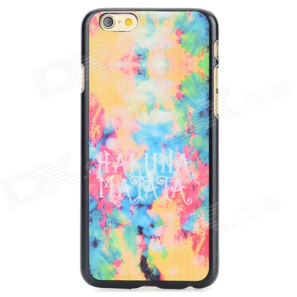 Oil Painting Pattern Protective Back Case for IPHONE 6 - Orange + Blue + Multi-Color cute owl pattern tpu back case for iphone 6 plus 5 5 yellow orange multi color