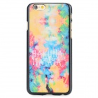 Oil Painting Pattern Protective Back Case for IPHONE 6 - Orange + Blue + Multi-Color