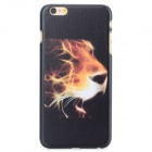 Tiger Head Pattern Protective PC Back Case for IPHONE 6 PLUS - Black + Yellowish-brown