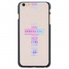 Cross Pattern Protective PC Back Case for IPHONE 6 PLUS - White + Purple