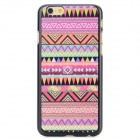 Tribal Ethnic Style Protective PC Back Case for IPHONE 6 - Pink + Multi-Color