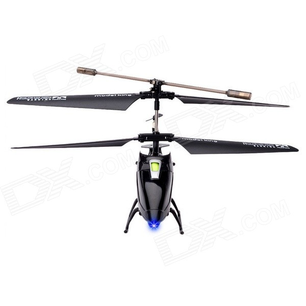Model King 3.5-Channel 2.4GHz Shatter-proof LED Light Mini R/C Helicopter Kit w/ Gyro - Black esspero canopy