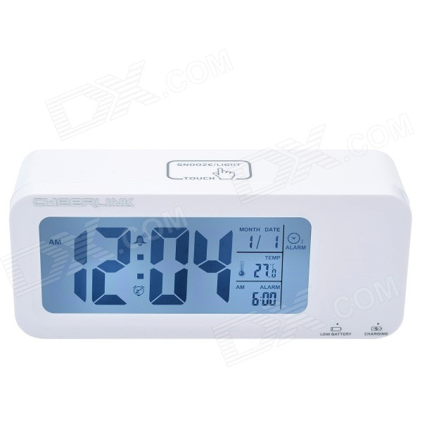 Фото - CHEERLINK 4.4 LCD Multifunction Rechargeable Smart Clock w/ 3-Alarm / Temp. / Blacklight - White qnbbm 4s 12v lithium battery balancer equalizer bms for 3 2v 3 7v lifepo4 polymer 12v24v36v48v72v144v192v288v etc