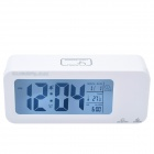 "CHEERLINK 4.4"" LCD Multifunction Rechargeable Smart Clock w/ 3-Alarm / Temp. / Blacklight - White"