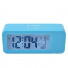 "CHEERLINK 4.4"" LCD Multifunction Rechargeable Smart Clock w/ 3-Alarm / Temp. / Blacklight - Blue"