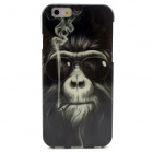 Smoking Monkey Pattern TPU Soft Cover Case IPHONE 6 - Black