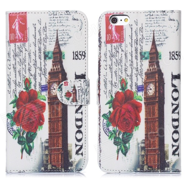 все цены на Hat-Prince The Big Ben Pattern Protective Case w/ Stand + Card Slot for IPHONE 6 PLUS - Multicolored онлайн