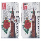 Hat-Prince The Big Ben Pattern Protective Case w/ Stand + Card Slot for IPHONE 6 PLUS - Multicolored