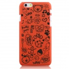 Hat-Prince Cartoon Print Protective Matte Non-slip Case Back Cover for IPHONE 6 PLUS - Orange