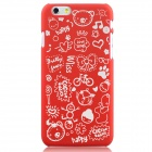 Hat-Prince Cartoon Print Protective Matte Non-slip Case Back Cover for IPHONE 6 PLUS - Red