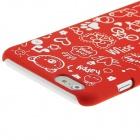 chapéu-Prince Cartoon Print Protetor Matte Anti-derrapante Case Back Cover para IPHONE 6 PLUS-Vermelho
