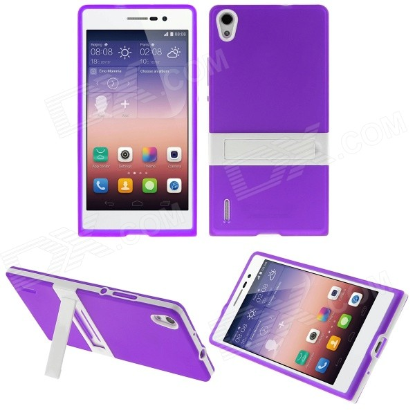 Hat-Prince Protective TPU Case Stand Huawei Ascend P7 - Purple