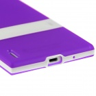 Hat-Prince Protective TPU Case w/ Stand for Huawei Ascend P7 - Purple