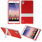 Buy Hat-Prince Protective TPU Case Stand Huawei Ascend P7 - Red