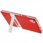 Hat-Prince TPU caso protetor w / stand para Huawei Ascend P7 - Red