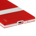 Hat-Prince Protective TPU Case w/ Stand for Huawei Ascend P7 - Red