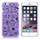 Enkay Cartoon Print Protective Matte Anti-Rutsch-Fall-rückseitige Abdeckung für iPhone 6 - Purple