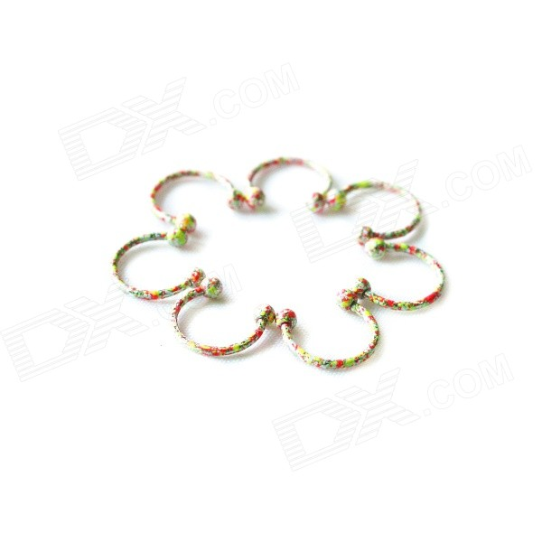 ME-010 Multi-Purpose Stainless Steel Ear / Eyebrow / Nipple Rings / Earrrings - Multicolored (2 PCS)