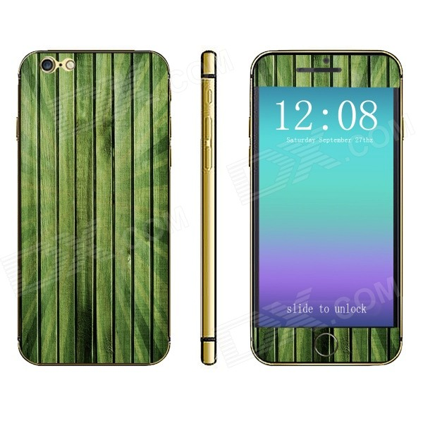 Stylish Strip Pattern Front + Back Decorative Sticker Set for IPHONE 6 4.7 - Turquoise