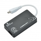 CHEERLINK XP-086 4-Port USB2.0 Hub w/ OTG Function for Phones / Tablets w/ Micro USB Port - Black