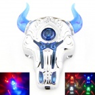 Rechargable Bull LED Laser Bicycle Tail Light Warning Lamp for Mountain Bike - Silver + Blue