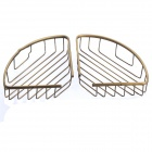 R3620 Retro Style Copper Triangle Basket - Bronze