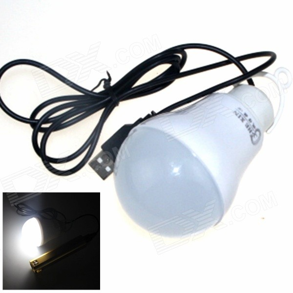CXHEXIN USB-05 5W 400lm 6000K 10-SMD 5630 LED White USB Camping / Emergency Lamp - White (5V)