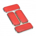 Hailis HL-6021 Plastic Reflective Warning Sticker for Car - Red (4 PCS)