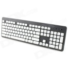 YDL-KT-610-1 High-Quality Whole Body Washable Keyboard - Black + White + Blue